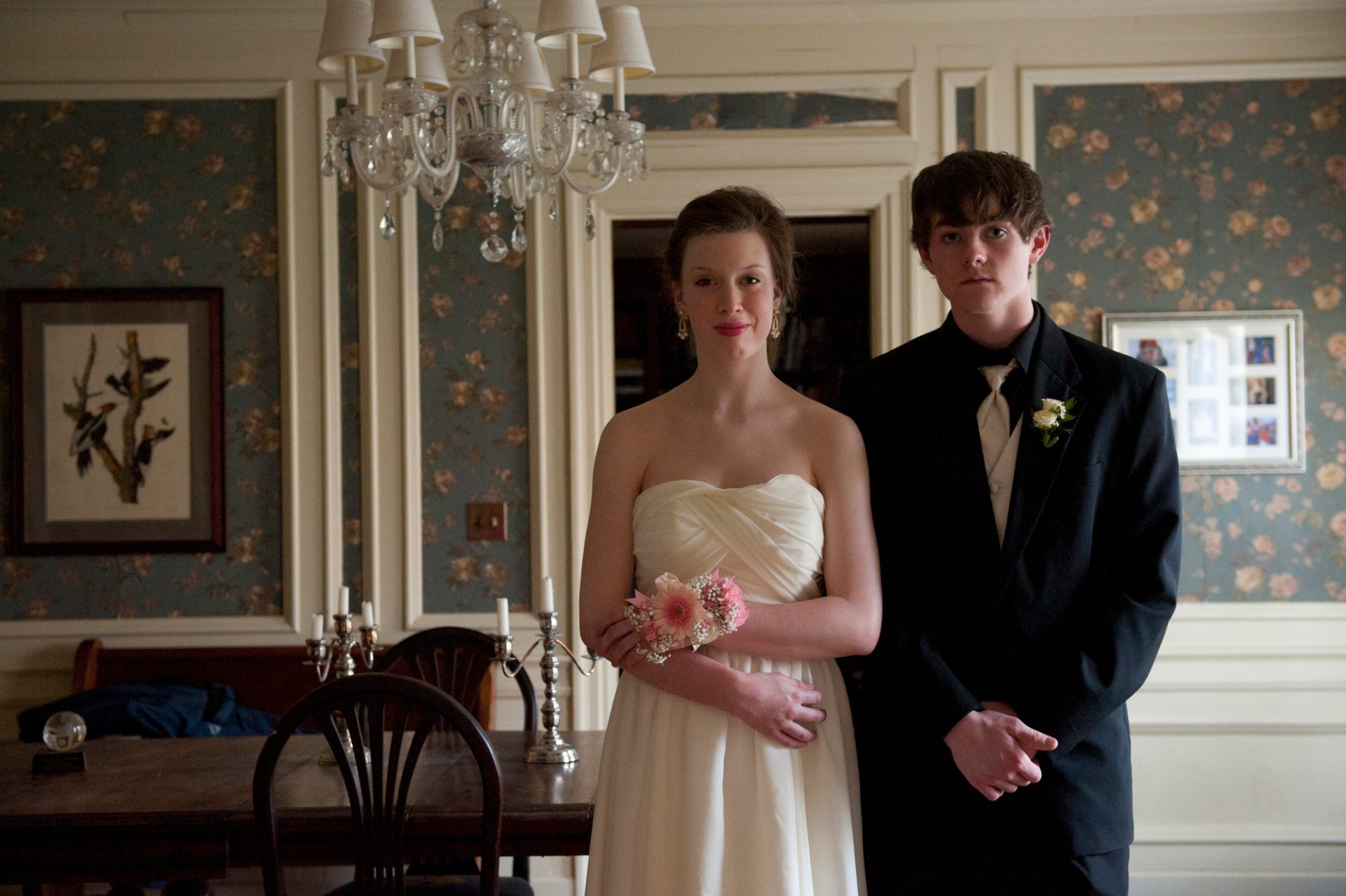Photo: A young couple prepares for prom.