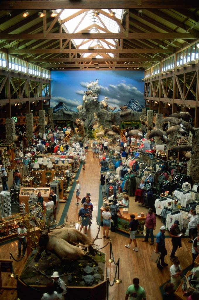 "Photo: The stuffed bighorn sheep get a dusting at Cabela's, the ""World's Foremost Outfitters"" in Sidney, NE."