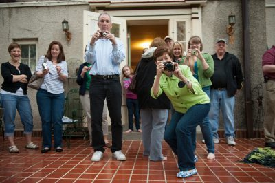 Photo: A group of parents take pictures of their children before prom in Lincoln, Nebraska.