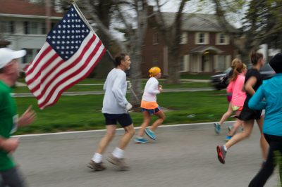 Photo: Runners in the 2013 Lincoln Marathon.