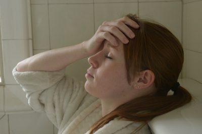 Photo: A young woman in distress, Lincoln, Nebraska.