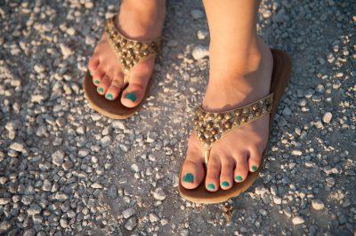 Photo: A close up of a teenage girls feet, Dunbar, NE.