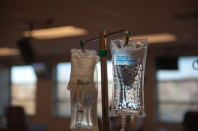 Photo: Chemotherapy in a labeled bag to be into a patient.