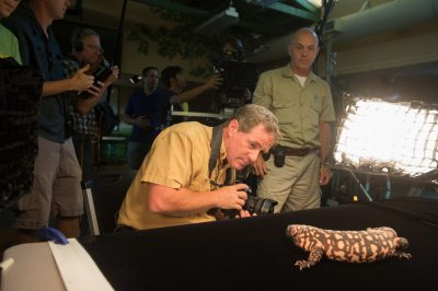 Photo: A news piece on the Photo Ark at the Lincoln Children's Zoo.