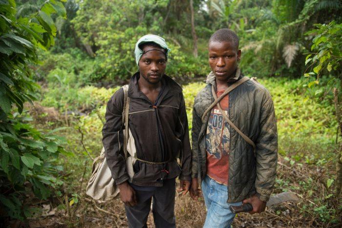 Photo: Bush meat hunters in Manjo, Cameroon.