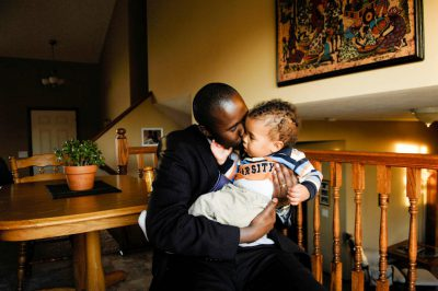 Photo: A father and his son in their suburban home in Lincoln, Nebraska.