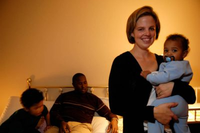 Photo: A family prepares for bedtime in their home in Lincoln, Nebraska.