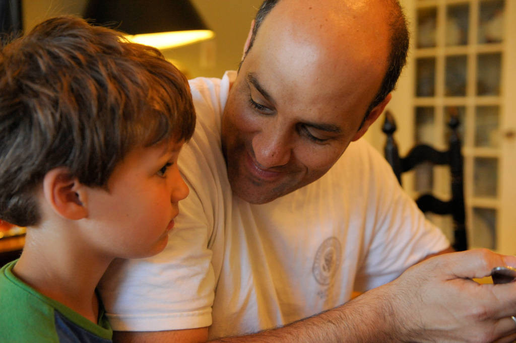 Photo: A father with his son at their home in Washington D.C.