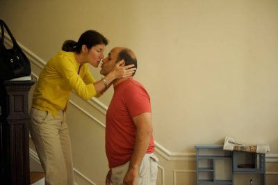 Photo: A husband and wife kiss at their home in Washington D.C.