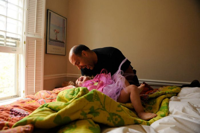 Photo: A father and his daughter play together at their home in Washington D.C.