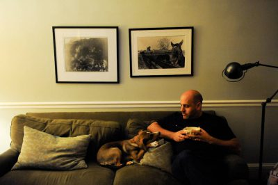 Photo: A dog watches its owner eat in a Washington, D.C. home.
