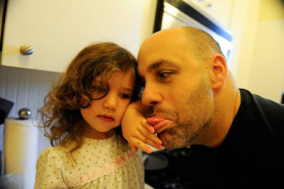 Photo: A father and his daughter at their home in Washington, D.C.
