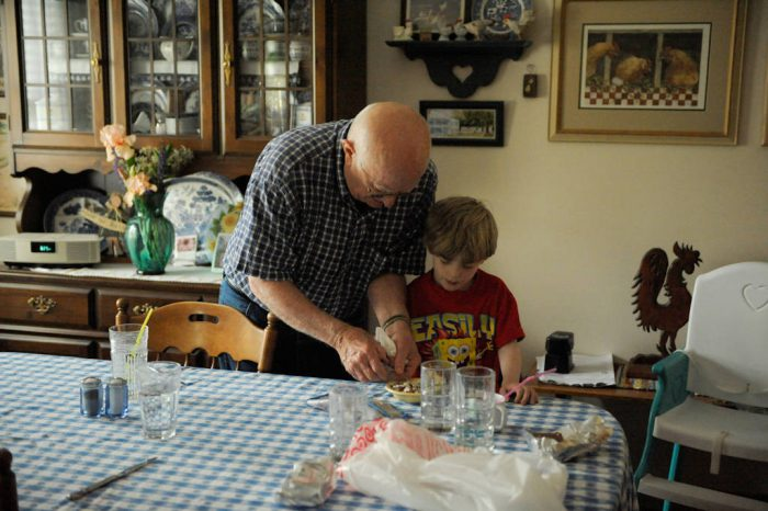 Photo: A grandfather and his grandson in Elkhorn, Nebraska.