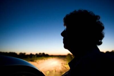 Photo: A silhouette of senior woman