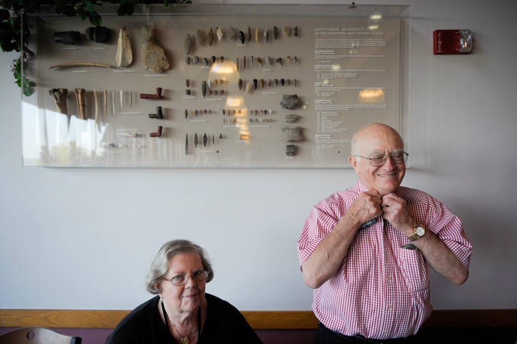 Photo: A senior couple wait to have dinner at Mahoney State Park near Ashland, NE.