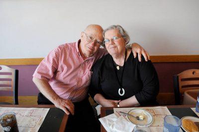 Photo: A senior couple.