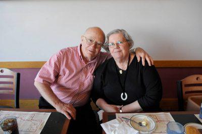 Photo: A senior couple at Mahoney State Park, Nebraska.