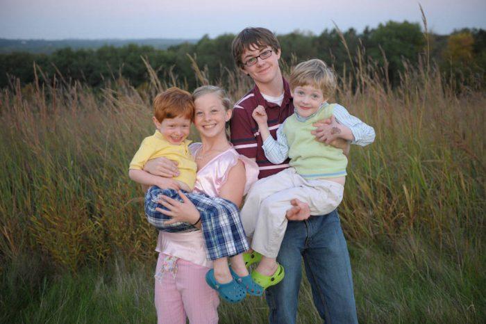 Photo: Cousins at Mahoney State Park in Nebraska.
