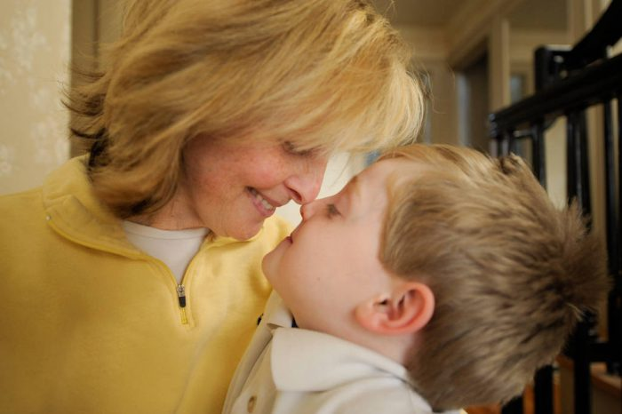 Photo: A mother and her son in Lincoln, Nebraska.