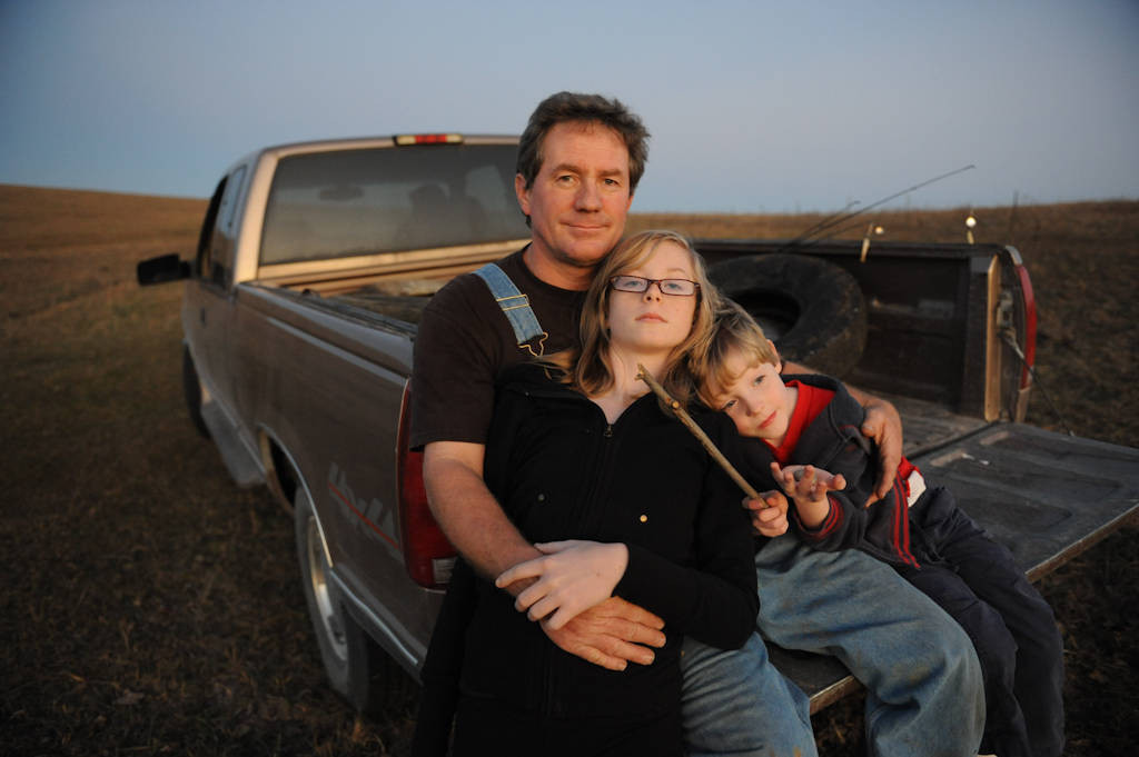 Photo: A family outing in a pasture near Valparaiso, Nebraska.