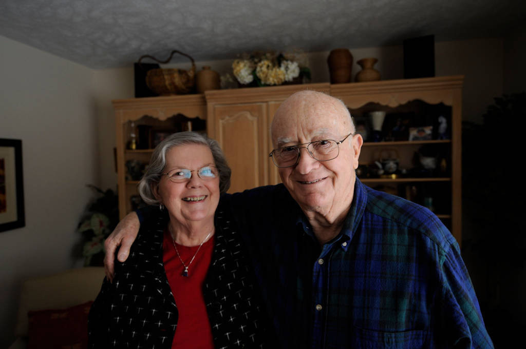 Photo: A husband and wife at their home in Elkhorn, NE.