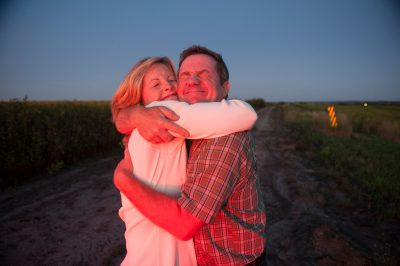 Photo: Joel and Kathy Sartore on the outskirts of Lincoln.
