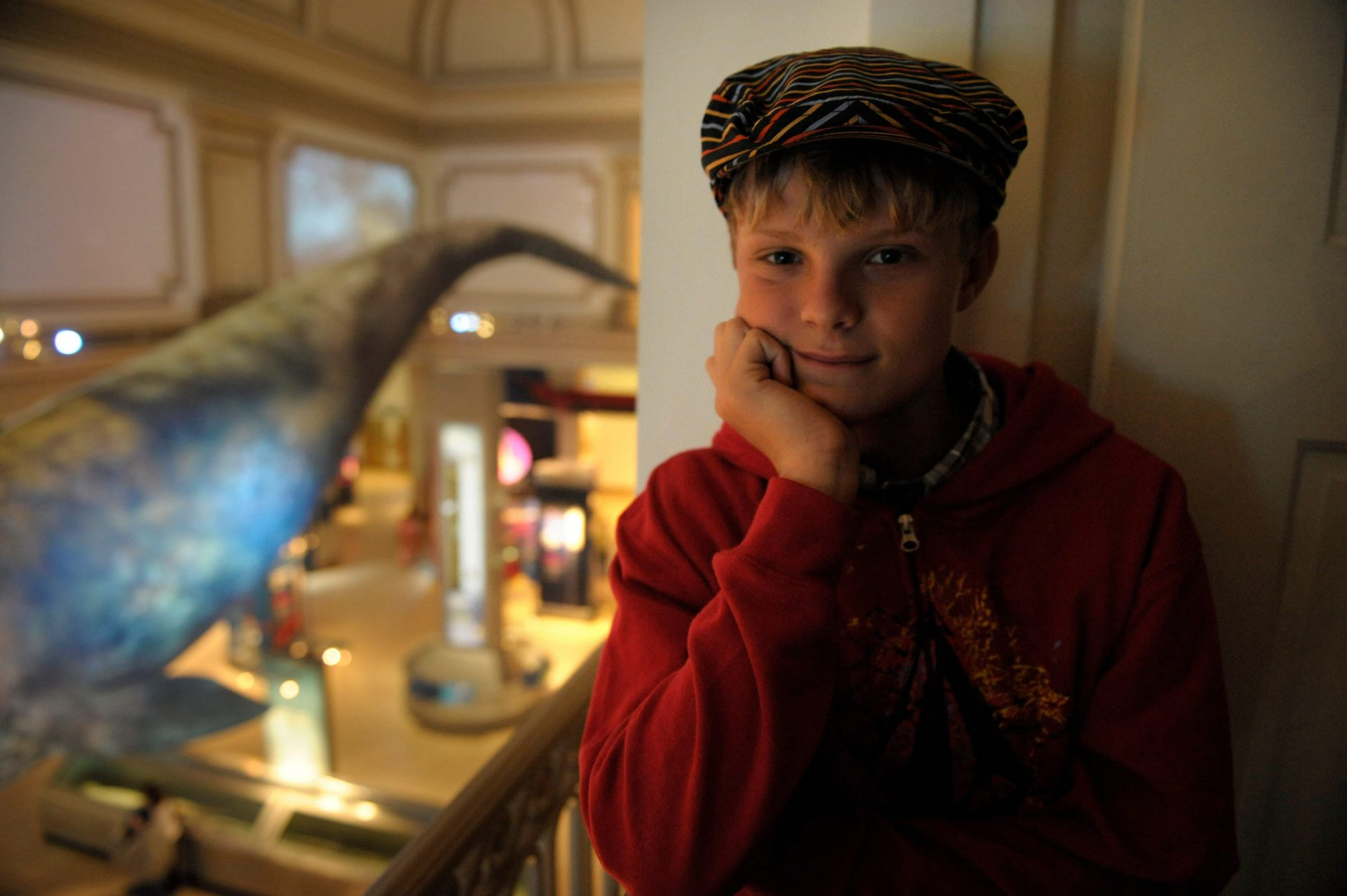 Photo: A young boy at the Smithsonian Museum of Natural History.