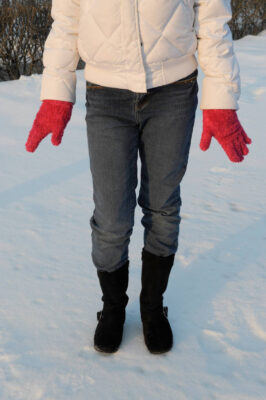 Photo: A girl dressed for cold weather in Nebraska.