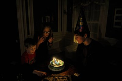 Photo: A boy at his sixteenth birthday party in Lincoln, Nebraska.