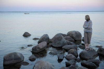 Photo: A woman at Stony Point Park, near Walker, Minnesota.