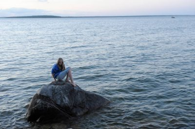 Photo: A young girl at Stony Point Park, near Walker, Minnesota.