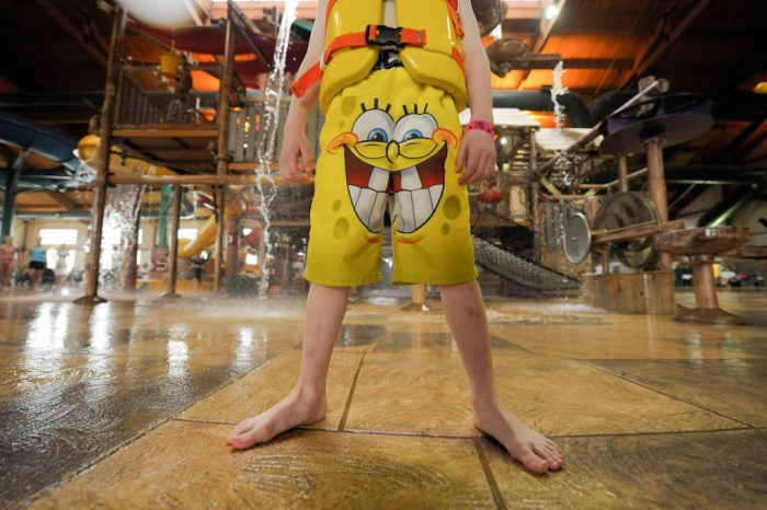 Photo: A six year-old boy at water park in Kansas City, Kansas.