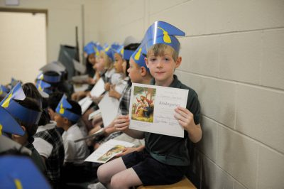 Photo: Kindergarten graduation.