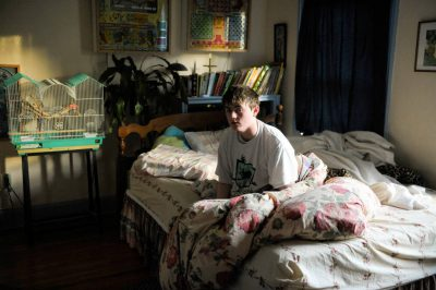 Photo: A teenage boy attempting to wake up in time for school at his home in Lincoln, Nebraska.