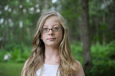 Photo: A portrait of a young lady while on vacation near Crosslake, Minnesota.