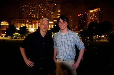 Photo: Cole Sartore with Anderson Cooper.