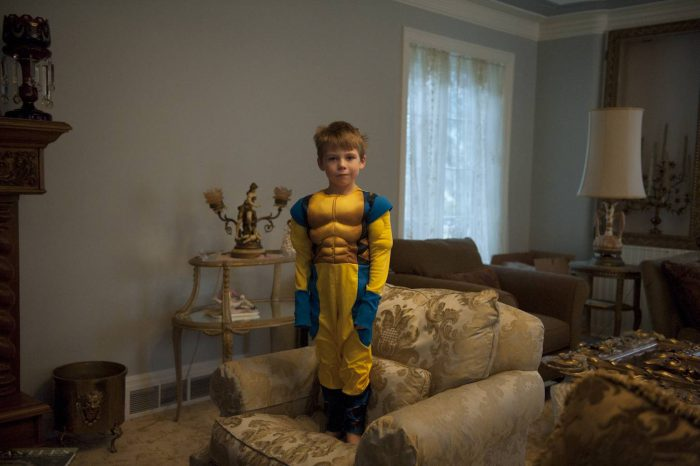 Photo: A young boy dressed as a super hero.