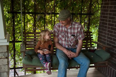 Photo: An uncle and niece spend time together in Lincoln, Nebraska.
