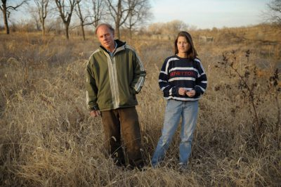 Photo: A husband and wife stop for a portrait in rural southeastern Nebraska.