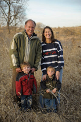 Photo: A mother and father with their two sons in rural southeastern Nebraska.