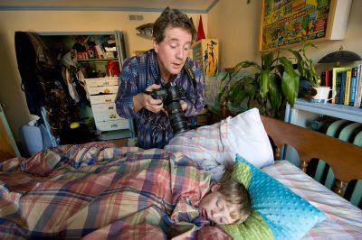 Photo: Joel Sartore photographs his son while sleeping at home in Lincoln, Nebraska.