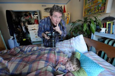 Photo: Joel Sartore photographs his son while sleeping at home in Lincoln, Nebraska.