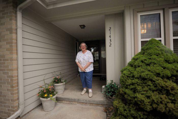 Photo: A woman at her home in eastern Nebraska.