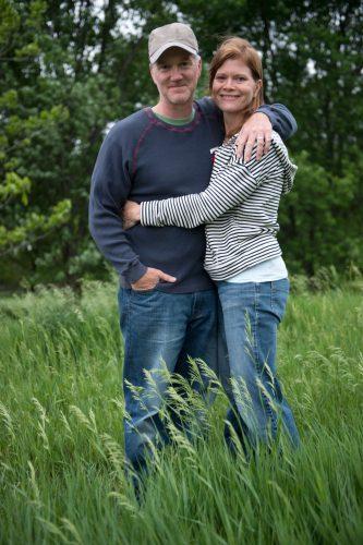 Photo: A portrait of a husband and wife, Lincoln, Nebraska.