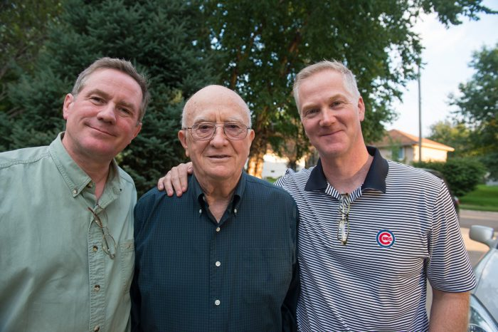 Photo: Two brothers get together for their dad's 85th birthday.