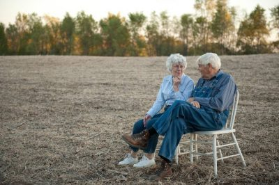 Photo: A senior couple on their Nebraska farm.
