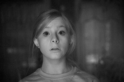 Photo: A frightened teenage girl in Elkhorn, Nebraska.