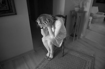 Photo: A distressed woman in Elkhorn, Nebraska.