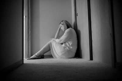 Photo: A depressed looking woman in Elkhorn, Nebraska.