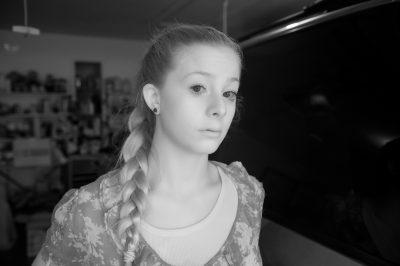 Photo: A teenage girl in Elkhorn, Nebraska.